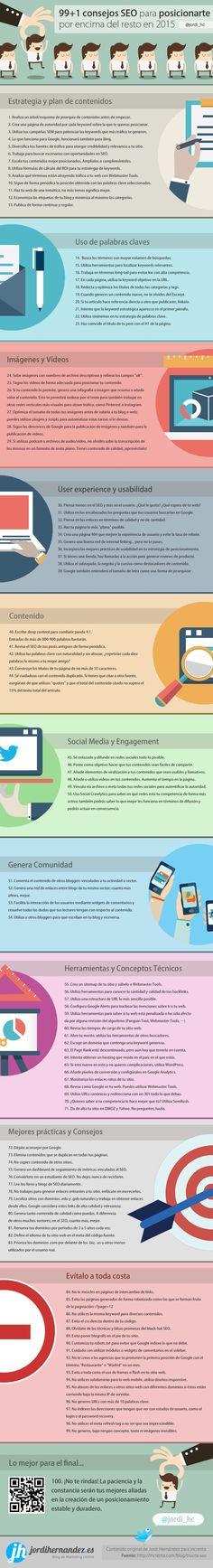 nice Hola: Una infografía con 99+1 consejos SEO para posicionarte mejor que tu compe...