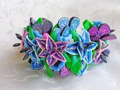 Составление трости с рисунком лепестка лилии из термопластики, фото