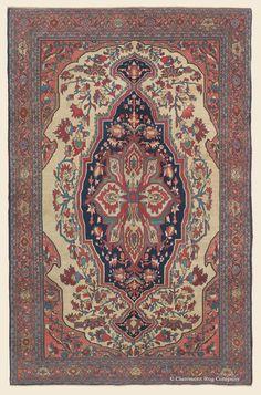 "FERAHAN SAROUK, 4' 5"" x 6' 7"" — 3rd Quarter, 19th Century, West Central Persian Antique Rug - Claremont Rug Company"