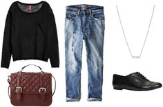 Love a good pair of boyfriend jeans a loose comfy sweater and a classic pair of oxfords any day!