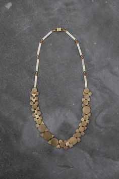 Samma Parade Necklace, brass and white bronze