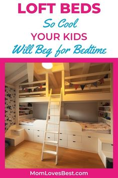 These 10 loft beds will help your child maximize the space in their bedrooms -- and the fun. They'll no longer fight their bedtime with one of these beds in their room. #cribs #cribbedding #swaddling #swaddle #swaddleblanket #bassinet #babysleep #babysleeptips #babysleepschedule #babysleeptraining Baby Sleep Schedule, Loft Beds, Kid Beds, Crib Bedding, Bedtime, Bassinet, Cribs, Kids Room, Home And Family