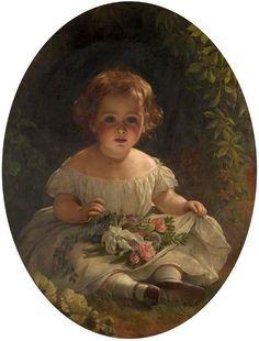 little-florist Thomas Francis Dicksee b1819 – 1895, English,  zou zo uit een boek van virginia andrews kunnen zijn....