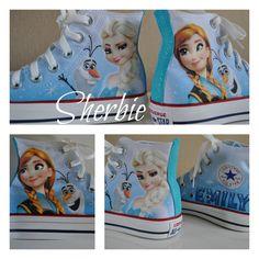 10424507cc6e frozen elsa and anna converse Frozen Shoes