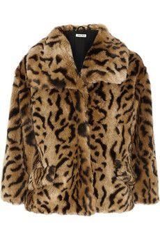 Mui Mui Leopard Coat
