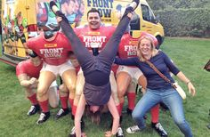 Boot Camp sessions = great fitness + pints of beer = Handstands at the Rugby!