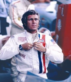 Steve McQueen in the movie Le Mans, with the legendary Heuer Monaco