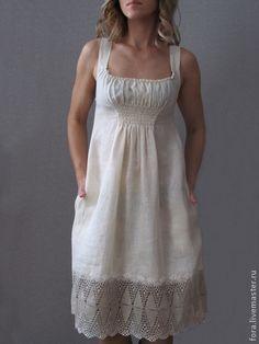 Платье льняное  Зефир. Handmade.