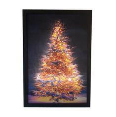 Kerst Schilderij - LEDCANVAS.NL #ledcanvas #schilderij #kerstboom #kerst