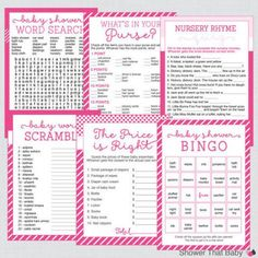 Even easier, print off these cute baby shower games (baby shower bingo, anyone?) and start the party right away.  Buy These Printable Baby Shower Games on Etsy »
