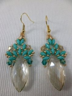 Jewelry Making Beads The Beading Gem's Journal: Two Beaded Crystal Briolette Earrings ~ Seed Bead Tutorials Bead Jewellery, Seed Bead Jewelry, Seed Bead Earrings, Beaded Earrings, Crystal Earrings, Seed Beads, Bracelets Diy, Seed Bead Bracelets, Beaded Bracelets