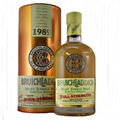 Bruichladdich 1989 Full Strength Single Malt Whisky aged for 13 years bottled in 2002 The year Jim McEwan was awarded Whisky Magazine Distiller of the Year
