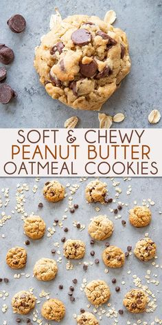 Perfect Peanut Butter Oatmeal Cookies are soft and chewy! These oatmeal cookies have the perfect texture, and are so easy to make with or without chocolate chips! Chewy Peanut Butter Cookies, Oatmeal Chocolate Chip Cookies, Chocolate Chips, White Chocolate, Peanut Butter Muffins, Healthy Oatmeal Cookies, Chocolate Chip Recipes, Peanut Butter Recipes, Chocolate Ganache
