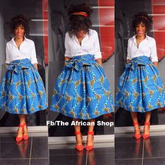 LIMITED Ichigo Skirt with bow tie by THEAFRICANSHOP on Etsy, £35.00