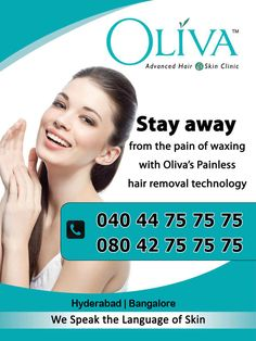 Stay Away from the pain of #Waxing, Laser hair removal is the easy way of removing unwanted hair. Book an Appointment here www.olivaclinic.com/laser-hair-removal-hyderabad/about-us.html#