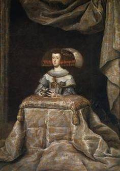 """""""Mariana de Austria, reina de España, orante"""", Taller de Velázquez, hacia 1655"""