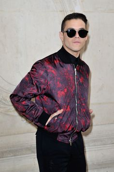 Rami Malek is Your Boo in a Bomber at the Christian Dior Spring 2017 Couture Show