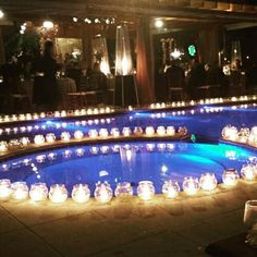 Velas piscina deco esco pinterest piscinas la - Velas para piscinas ...