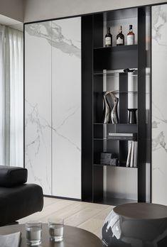 House Helpful Techniques For contemporary interior design concept Shelving Design, Tv Wall Design, Shelf Design, Cabinet Design, Contemporary Interior Design, Luxury Interior Design, Modern Interior, Interior Decorating, Modern Contemporary