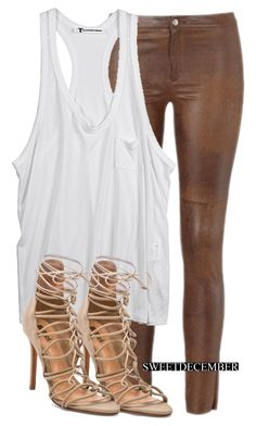 """Sem título #633"" by sweetdecember ❤ liked on Polyvore featuring T By Alexander Wang and Schutz"