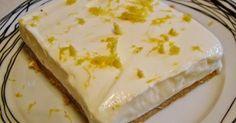 Lemon dessert with digestives and Greek yogurt Greek Sweets, Greek Desserts, Cold Desserts, Summer Desserts, Easy Desserts, Delicious Desserts, Lemon Recipes, Sweets Recipes, Greek Recipes
