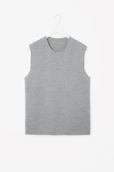 COS image 2 of Sleeveless knit jumper in Grey
