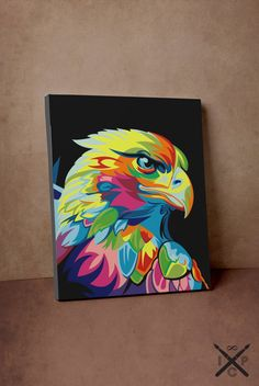 Rainbow Bird Eagle Acrylic Painting by InfiniteColourPaints