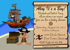 pirate baby shower invitations 5