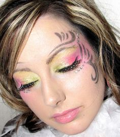 Halloween makeup...pretty, kind of fairy like