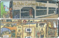 Ye Olde Curiosity Shop in Seattle is a feast for the eyes—and the sketchbook. I spent a whole afternoon in there sketching all the crazy kitsch and snake-oil souvenirs.