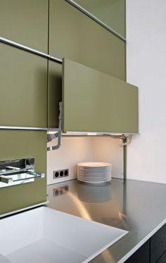 Modern Kitchen Design  : #Küche; #Stauraum Sehr praktisch zum Verstecken auch von Kaffeemaschine Küche