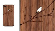Wooden Bird Branch iPhone / Toast #phonecase
