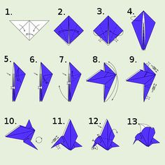Origami bird instructions mobiles 40 ideas for 2019 Origami Design, 3d Origami, Cube Origami, Origami Lamp, Origami Yoda, Origami Star Box, Origami Dragon, Origami Fish, Useful Origami