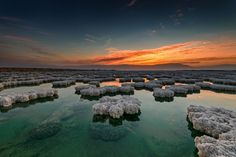 Dead Sea at sunrise