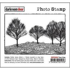 Darkroom Door Photo Stamp - Tree Line