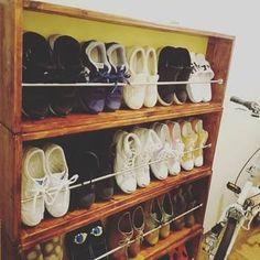 「靴を斜めに収納 DIY」の画像検索結果