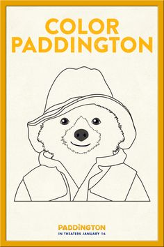 Coloring in Paddington! Download this free activity and have fun with your kids. We love coloring pages!