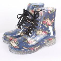 Hot sale print women rainboots waterproof boots PVC women rainboots rubber shoes women rain shoes botas de agua wellies YX004