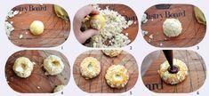 Biscuits aux amandes effilées, fourrés au chocolat! Baked Potato, Eggs, Baking, Breakfast, Ethnic Recipes, Cakes, Food, Art, Pudding Recipe