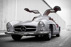 1955 Mercedes-Benz 300 SL Alloy Gullwing / pinterest.com/uncrate