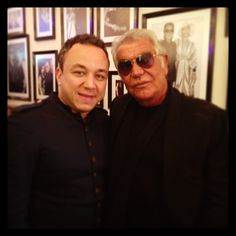 With the great designer Roberto Cavalli at the opening of his new club In Beirut