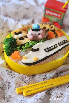 I like the Shinkansen! Maybe I will try making a bento like this.