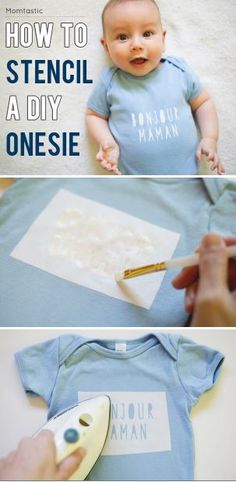DIY How to stencil your own shirt or onesie