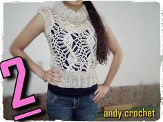 chaleco en horquilla ( parte 2 )Andy crochet