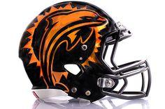 Dolphin Oversized Football Helmet Decal