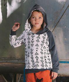 White Arrows Organic Hoodie - Toddler & Kids by Mini & Maximus