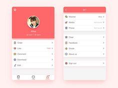 UI设计灵感:个人中心界面设计(User Profile) | 设计达人