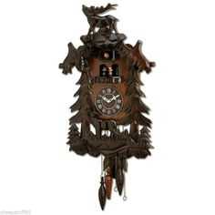 Black Forest Musical Carousel Dancers CUCKOO CLOCK / DECORATIVE WALL CLOCK
