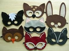 Máscaras de fieltro