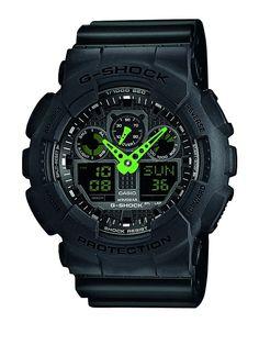 Casio Herren-Armbanduhr XL G-Shock Analog - Digital Quarz Resin GA-100C-1A3ER: Amazon.de: Uhren